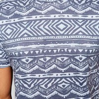 New Look T-Shirt with Washed Aztec Print