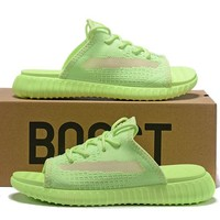 Yeezy Boost 350 V2 Slipper Fluorescent Green 36-45