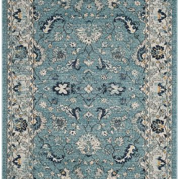 Carmel Traditional Indoor Area Rug Turquoise / Beige