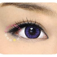 GEO Color 9 Violet Purple Circle Lenses Cosmetic Colored Contacts