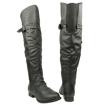Womens Over The Knee Riding Boots Black