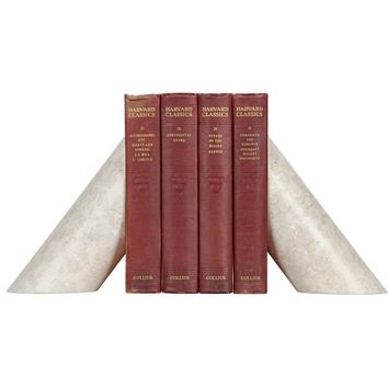 DeWitt Architectural Bookends, White Marble