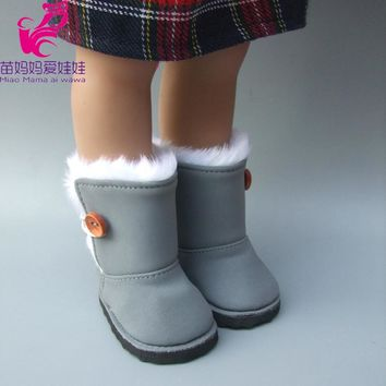 "18"" 45CM American Girl Doll Fur Snow Boots shoes for Alexander doll accessory zapf baby born doll shoes girl gift"