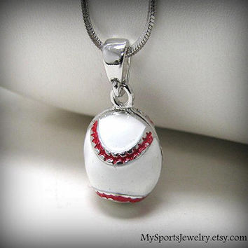 The White Baseball Charm