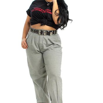 Vintage 80's Lee Houndstooth Pleated Trousers - L