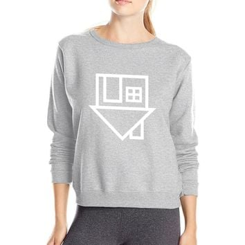The Neighbourhood stick figures hourse print women brand sweatshirt kawaii tracksuit For Lady 2017 spring fleece hoodies tops