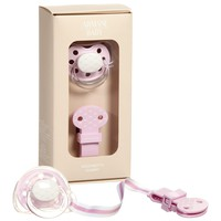 Pale Pink Pacifier & Clip Baby Gift Set