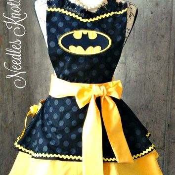 Womens Batman Apron, Batman Costume Apron, Aprons, Flirty,, Sexy Apron