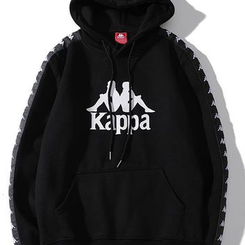 Kappa  Woman Men Fashion Hooded Top Sweater Pullover  Hoodie