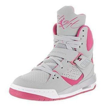 DCK7YE Jordan FLIGHT 45 HIGH IP GG girls basketball-shoes 837024