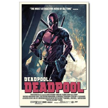 Deadpool Dead pool Taco NICOLESHENTING  Wade Wilson Art Silk Poster Print 13x20 20x30 inch Movie Comic Pictures Living Room Decor DO13 AT_70_6