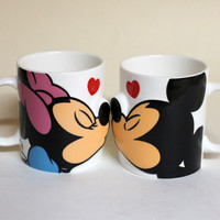 Mickey mouse & Minnie Mouse pair mug / kiss ■ mug cup set fs3gm