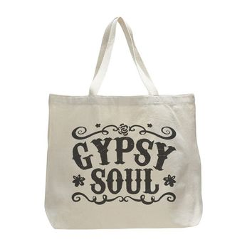 Gypsy Soul - Trendy Natural Canvas Bag - Funny and Unique - Tote Bag