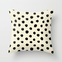 Vintage Watercolor Dots Pattern Throw Pillow by Crystal ★ Walen
