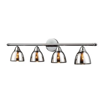 Reflections 4-Light Vanity Lamp in Polished Chrome with Chrome-plated Glass