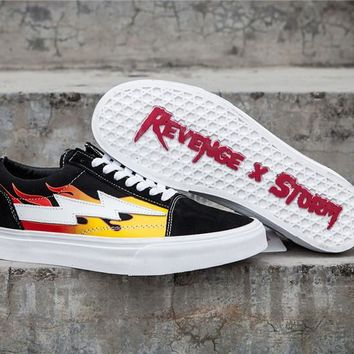 Revenge x Storm Old Skool Fire Skateboarding Shoe 35-44
