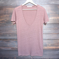 project social t - grace linen v neck tee