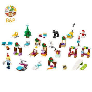 lepin Legoing 41326 243pcs Friends Series The Christmas countdown calendar Building Blocks Bricks Toys For Children Gift  01041