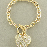 Gold Heart Bracelet from p.s. I Love You More Boutique