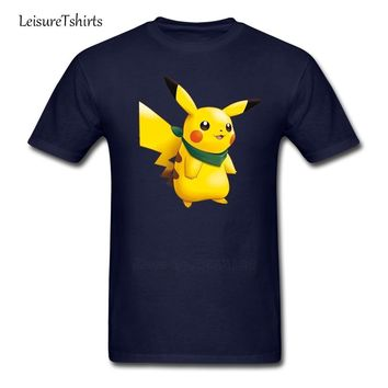Pikachu  Mystery Dungeon Explorers Of Sky T Shirt Adult Simple Tshirt Cool Loose T-Shirt Men Short Sleeve Dad ClothesKawaii Pokemon go  AT_89_9