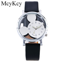 McyKcy 2016 Fashion Mickey Mouse Cartoon Watch Women Casual Quartz Watch Ladies Wristwatch Girls Clock Relogio Feminino M15