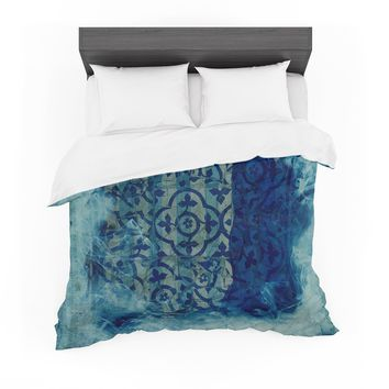 """Frederic Levy-Hadida """"Mosaic in Cyan"""" Featherweight Duvet Cover"""