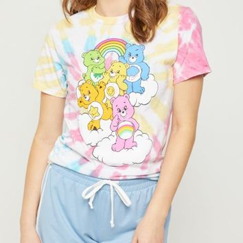 Tie Dye Care Bears Tee