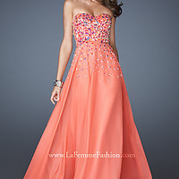 Strapless Beaded Gown by La Femme