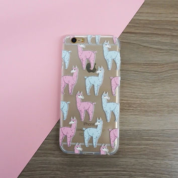 Cute Llama Clear Case for iPhone 6  6s 4.7 ""