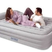 Intex Comfort Frame Rising Comfort Queen Airbed with hand held A/C pump