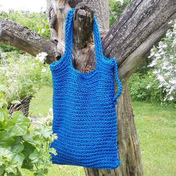 Knitted Bags/ Rope Bags/ Handmade Bags/ Chrochet Bags/ Tote/ Bolso/ Blue Bags/ Summer Handbags