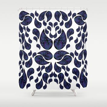Paisley purple and teal Shower Curtain by VanessaGF | Society6