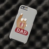 Red White #1 Dad Tough iPhone 6 Case