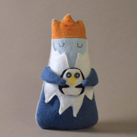 Darling Ice King and Gunther - Adventure Time Felt Plush
