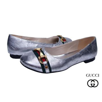 GUCCI Women Fashion Low heeled Shoes
