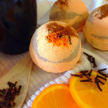 Mulled Orange Cider Bath Bomb