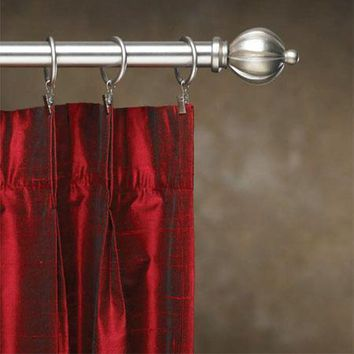 Contemporary Metal Double Curtain Rod Sets