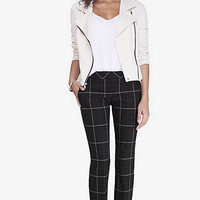 Windowpane Shadow Plaid Columnist Ankle Pant from EXPRESS