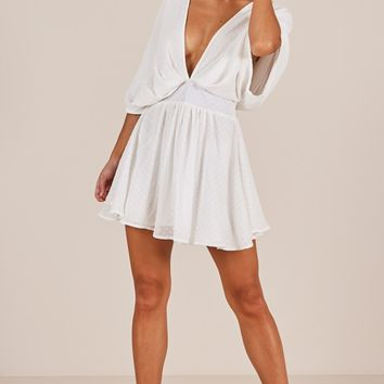 Signed and Sealed dress in white Produced By SHOWPO