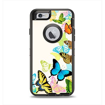 The Colorful Vector Butterflies Apple iPhone 6 Otterbox Defender Case Skin Set