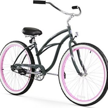 Gama Bikes Women's City Petite Step-Thru 6 Speed Shimano Teen Youth Hybrid Urban Cruiser Commuter Bicycle, 24-inch wheels