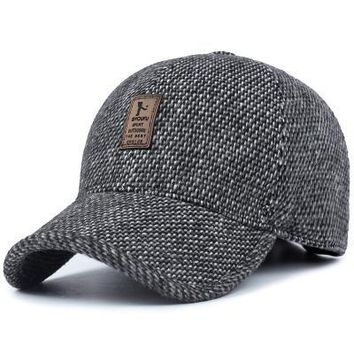 Big Promotion Classic Wool Blended Caps Hats  Men's Fall Winter Hat Cozy Adjustable Free Size Free Shipping
