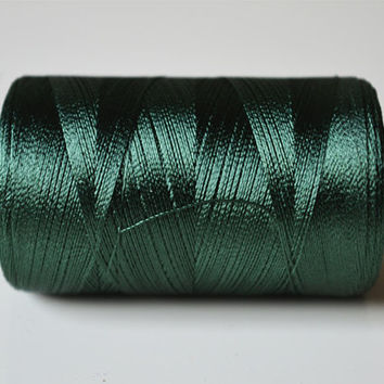 Seaweed Green Silk Thread Spool, Art Silk Thread, Hand And Machine Embroidery Thread, Art Silk Embroidery Thread, Indian Silk Thread