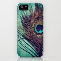 Peacock Dream Feather iPhone Case by KunstFabrik_StaticMovement Manu Jobst | Society6