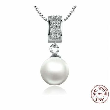 Sterling Silver Plated Jumping Musical Note Necklace Waterwave Chain Gift Box