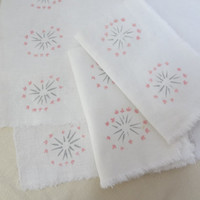 placemat napkin set dandelions retro shabby chic kitchen fabric