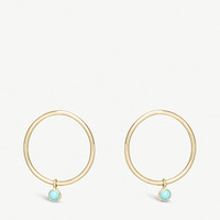 THE ALKEMISTRY Zoë Chicco 14ct yellow-gold and turquoise circle earrings