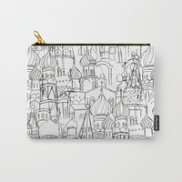 Russian cathedral church line drawing Carry-All Pouch by Color and Color