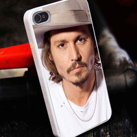 Johnny Depp customized for iphone 4/4s/5/5s/5c, samsung galaxy s3/s4/s5, and ipod 4/5