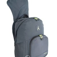 Nike Air Jordan Backpack Gray Green Hoodie Bag Mens Women Girls Boys Kids School